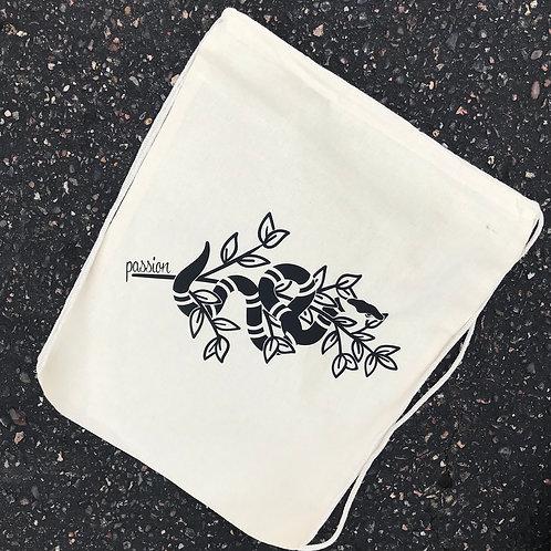 Passion Serpent Drawstring Bag Natural