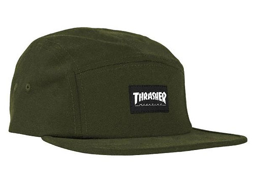 Thrasher 5-Panel Army Green Hat