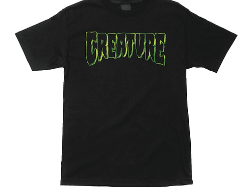 Creature Psych Outline Black Tee