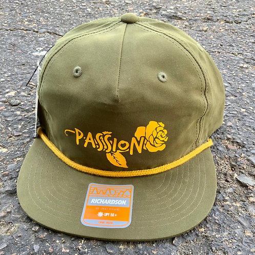 Passion Rose Hat Green