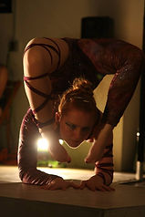 aloft student, contortion, stretching