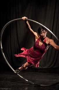 Shayna Swanson, cyr wheel, red dress