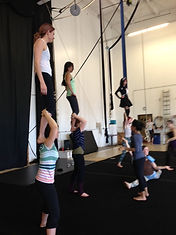 aloft students, acrobatics class