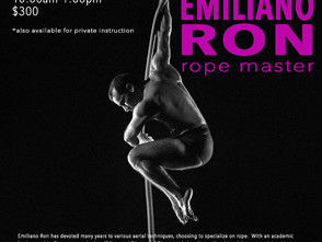 Emiliano Ron Rope Workshop 2/13/16 to 2/15/16!