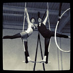 aloft duo trapeze, students