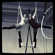 aloft duo trapeze, students