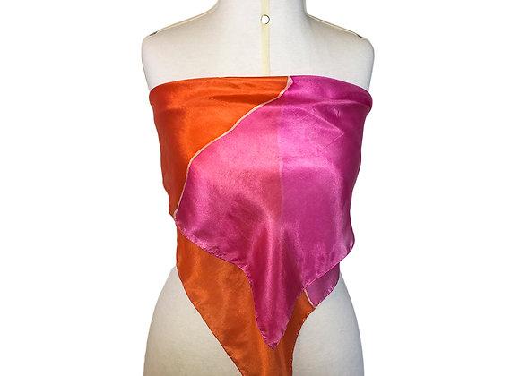 foulard pink-orange