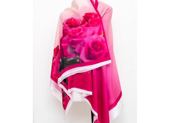 Écharpe-tecido rosas pink