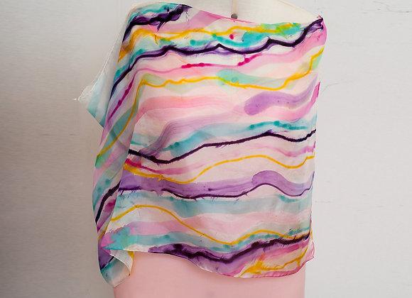 Echarpe Lollipop Stripes - Seda Pura