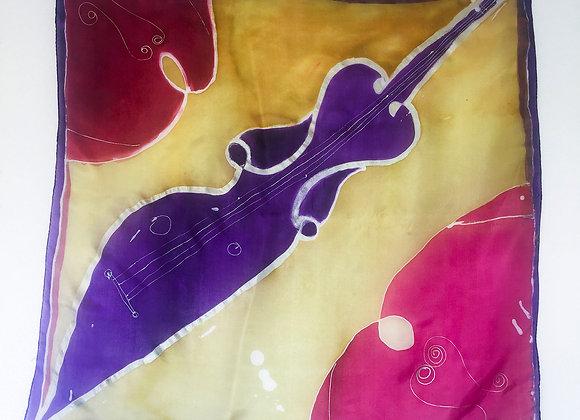 Foulard long guitar