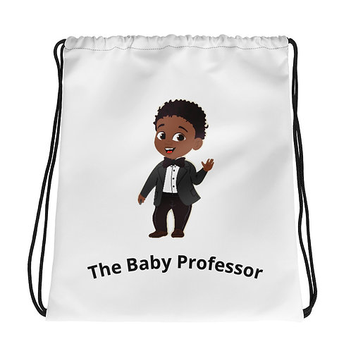 The Baby Professor Drawstring bag