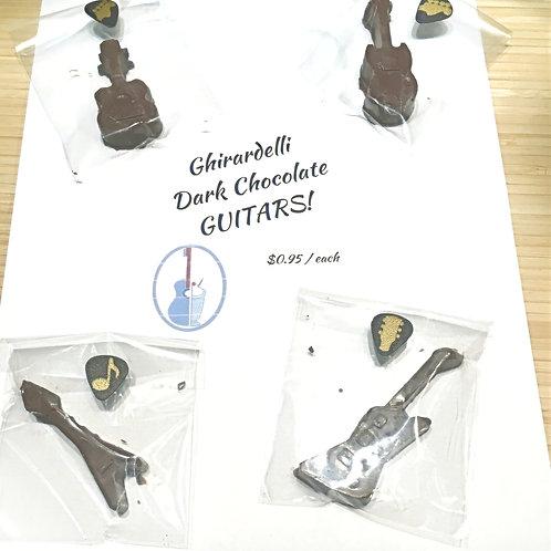 Ghirardelli Dark Chocolate Guitars