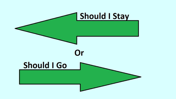 Should I stay or should I go? A sales rep's guide to pursue greener pastures or not!