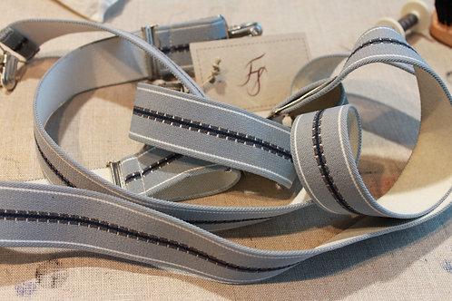 Vintage hängslen med clips
