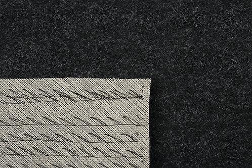 Färdigpikerad kragfilt mörkgrå