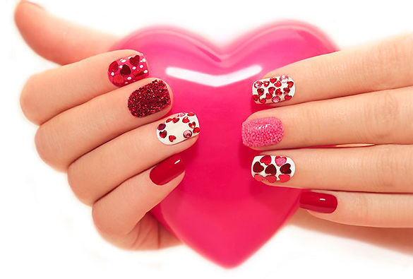 Fabulous Heart Nail Art