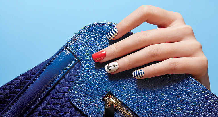Beautiful Navy Nail Art