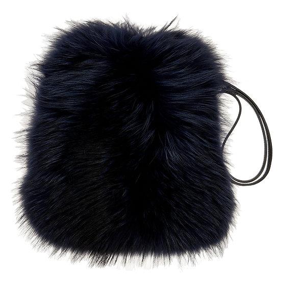 Navy Fur Bag