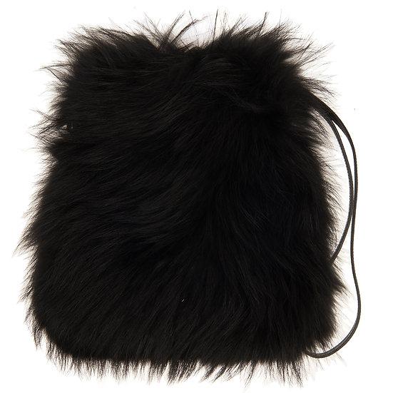 Black Fur Bag