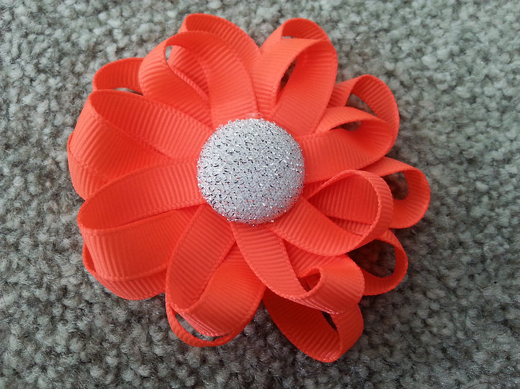 Layered Loop Flower With Button Centre