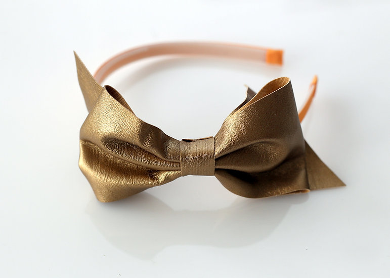 Coffee Leatherette Headband