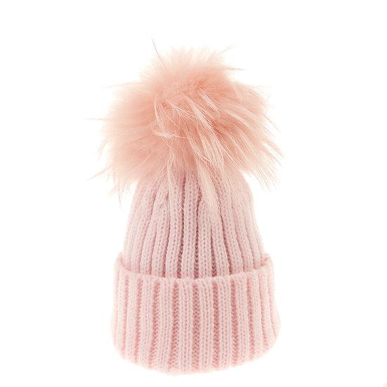 BTZ48 S/M Beanie Bobble pink pom