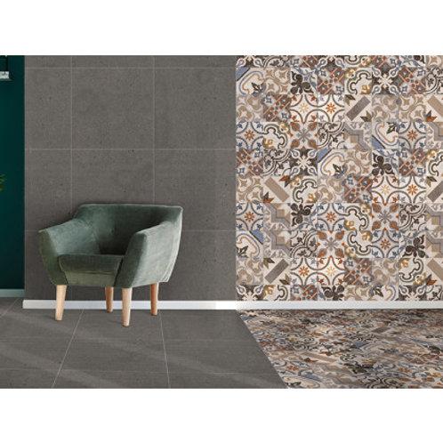600 x 600 Nostalgia Charcoal Floor Tile per m2