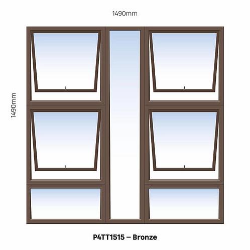 PTTTT1515  PMALWIN Aluminium Window Bronze 1490 x 1490