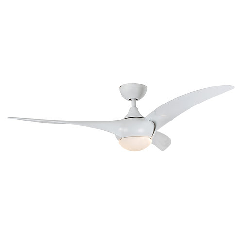3 Blade White 52' TY Motor Frosted Opal Glass