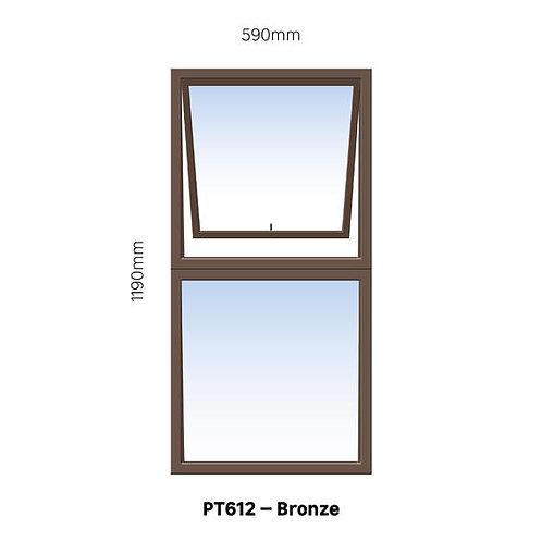 PT612 Aluminium Window Bronze 590 x 1190