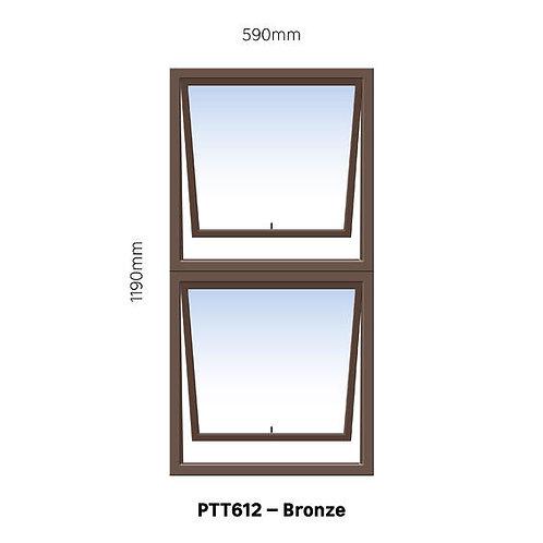 PTT612 Aluminium Window Bronze 590 x 1190