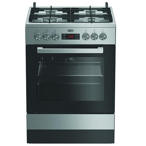 DGS183 GAS/ELECTRIC STOVE DEFY 4 BURNER M/F INOX