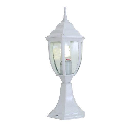 Pedestal Bevelled Glass White