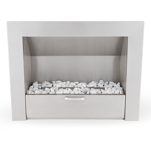 900 Vent Free Built-In Fireplace Stainless Steel
