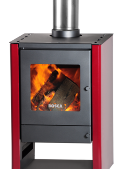 Bosca Gold Burgandy 380 Closed Combustion Fireplace