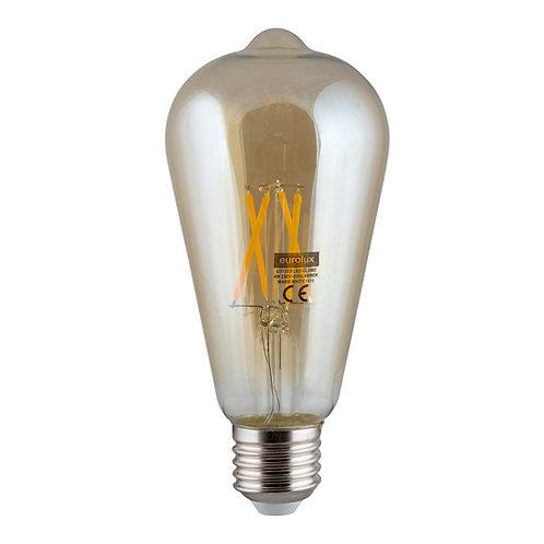 LED Amber Filament Pear-Shape Nipple E27 4w WW