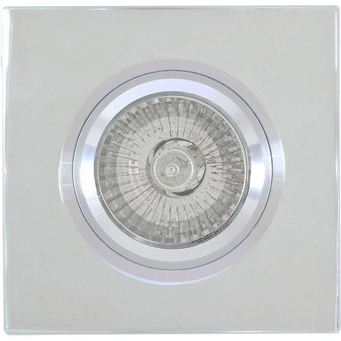 Mirror Face Square D/Light 89mm Alum.