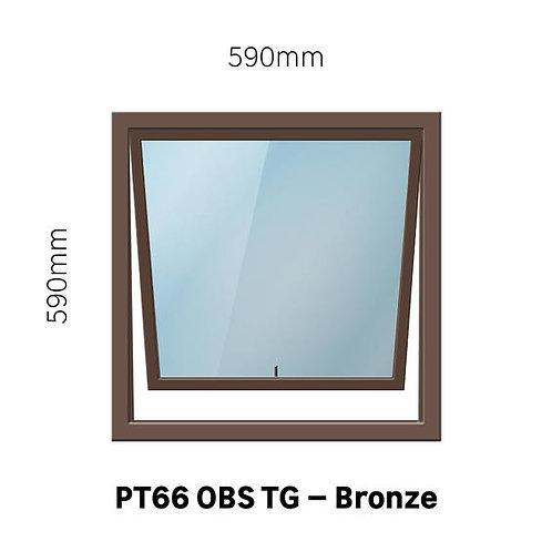 PT66 - OBS Aluminium Window Bronze 590 x 590