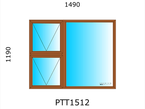 PTT1512 Aluminium Window Bronze 1490 x 1190