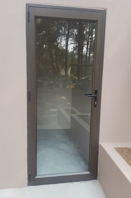 Full Pane Aluminium Entrance Door