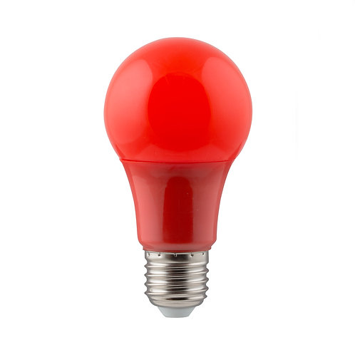 LED Coloured A60 Globe E27 7w Red
