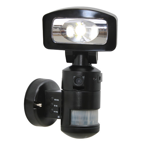 11W COB LED Motion Tracking Light with 2GB SD CARD in Black