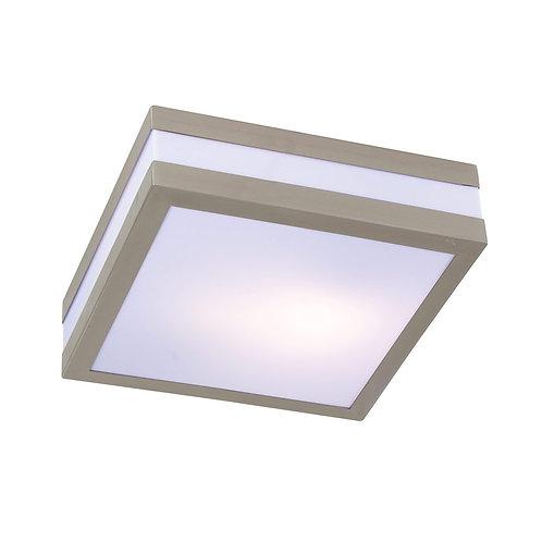 Bathroom Square C/Light 285mm S/Steel