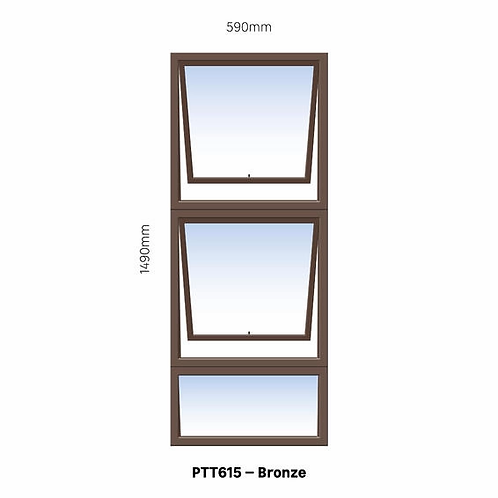 PTT615 Aluminium Window Bronze 590 x 1490