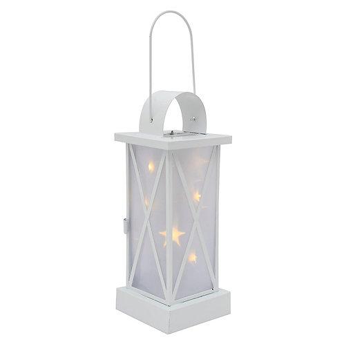 10Light LED Lantern White Battery Operated