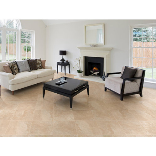 350 x 350 Mabula Ivory Floor Tile per m2