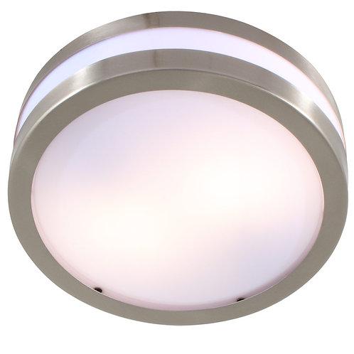 Bathroom Round C/Light 285mm S/Steel