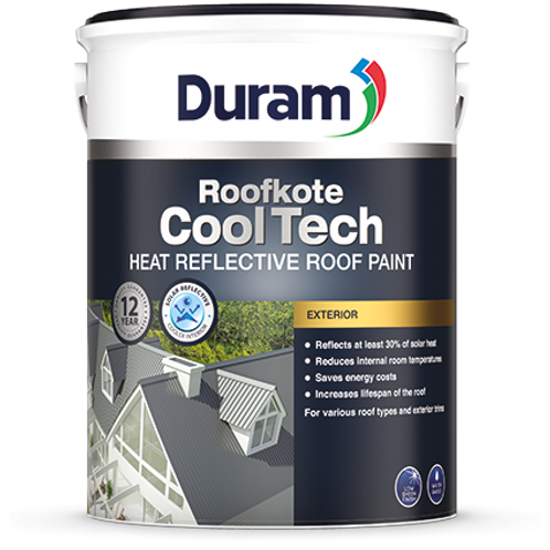 DURAM ROOFKOTE COOLTECH  5LT -  WHITE