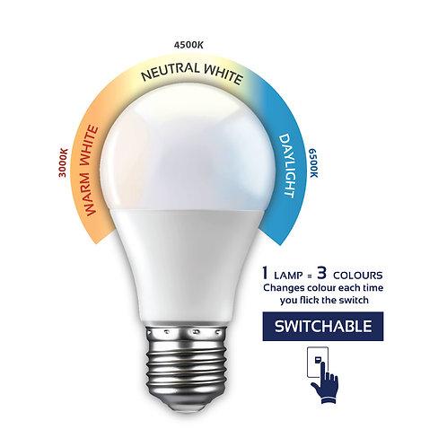 LED Switchable Opal A60 Globe E27 7w
