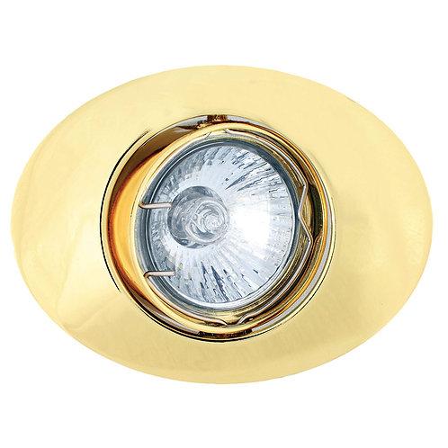 Tilt Oval D/Light 108mm Polished Brass